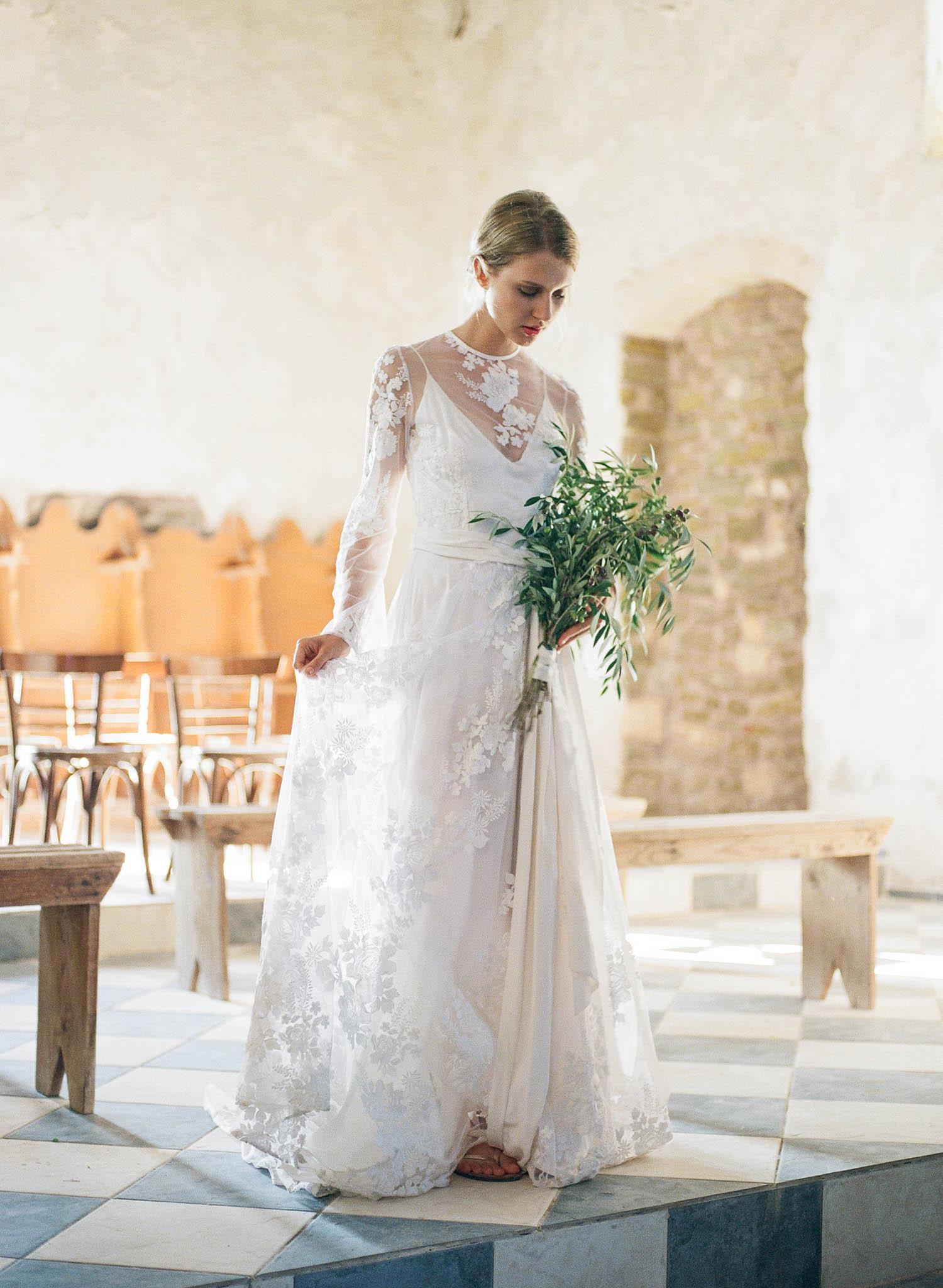 Ancient Greek Church Bridal Inspiration – Allie Jennings Photography ...